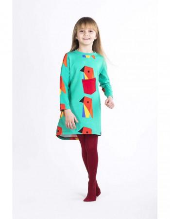 Sukienka ecoPapuga crazy POCKET z przodu
