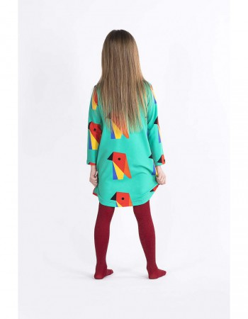Sukienka ecoPapuga crazy POCKET z tyłu