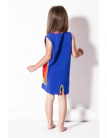 Sukienka chabrowa z kieszenią Crazy Pocket - tył