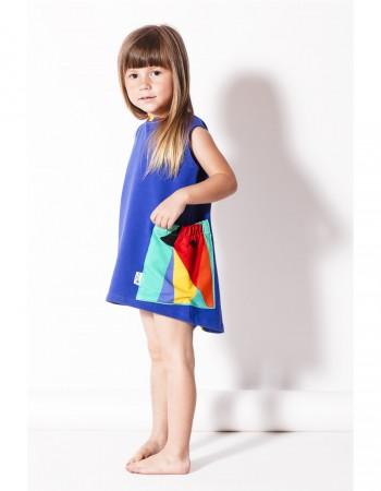 Sukienka chabrowa z kieszenią Crazy Pocket