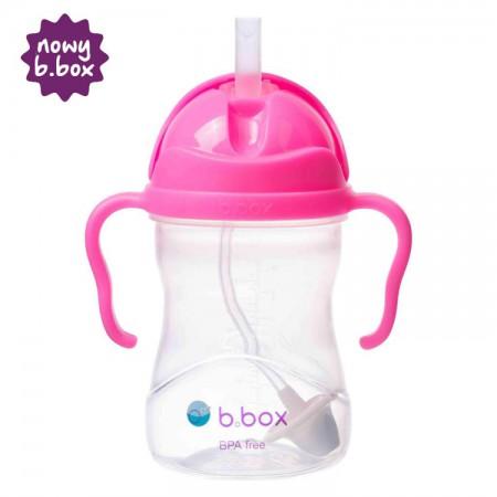 *NOWY* innowacyjny bidon ze słomką różowy granat B.BOX