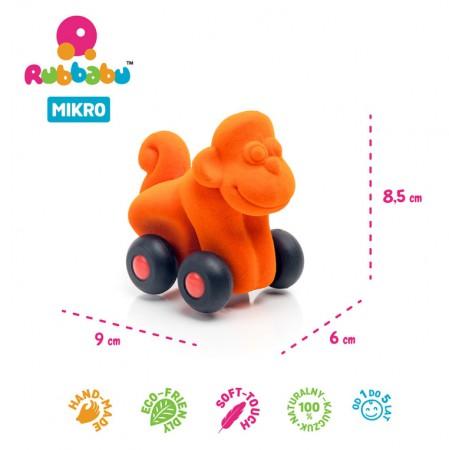 Pojazd sensoryczny mikro pomarańczowa Małpka Rubbabu