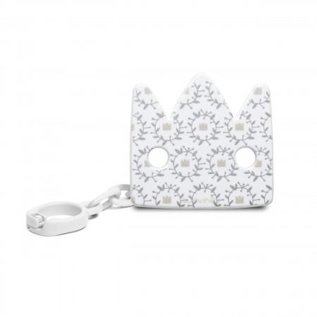 Klips do smoczka korona biała Swan | Suavinex Special Occasions