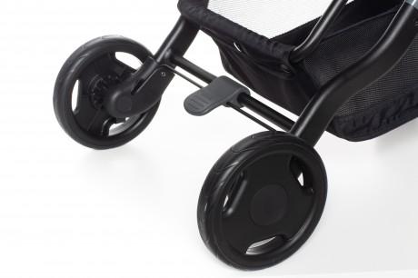 Wózek posiada duże, dobrze amortyzowane koła