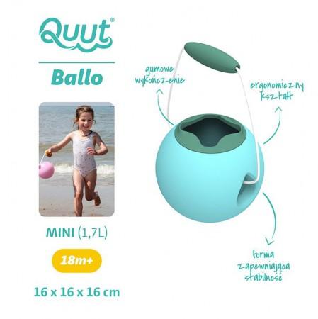 Małe wiaderko wielofunkcyjne Mini Ballo kolor Vintage Blue + Mineral Green QUUT