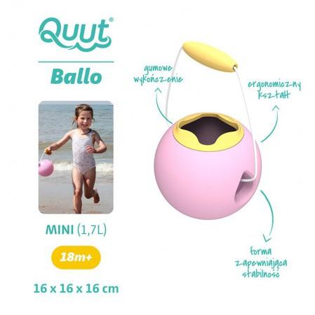 Małe wiaderko wielofunkcyjne Mini Ballo kolor Sweet Pink + Yellow Stone QUUT