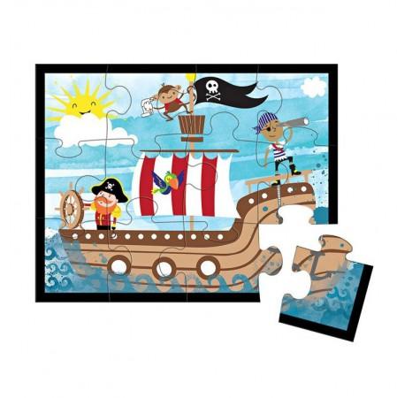 Puzzle w saszetce Piraci 12 elementów Mudpuppy