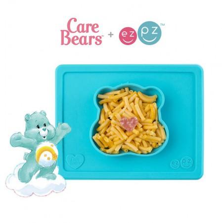 Silikonowa miseczka z podkładką 2w1 Care Bears™ Bowl Misia Życzliwe Serce Wish Bear turkusowa EZPZ