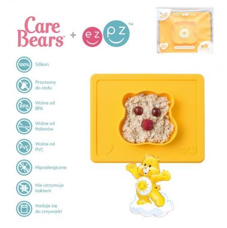 Silikonowa miseczka z podkładką 2w1 Care Bears™ Bowl Misia Słoneczne Serce Funshine Bear żółta EZPZ