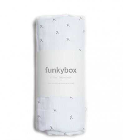 Pieluszka Bawełniana 70x70, Dark Grey Wonderful Funkybox