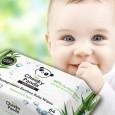 Nawilżane chusteczki bambusowe dla dzieci 64 szt. The Cheeky Panda