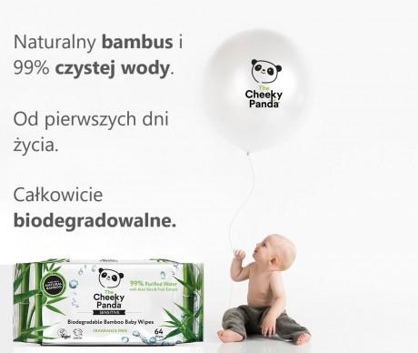 Nawilżane chusteczki bambusowe dla dzieci The Cheeky Panda