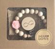 Ręcznie robiona, drewniana zawieszka do smoczka | Love | Luna